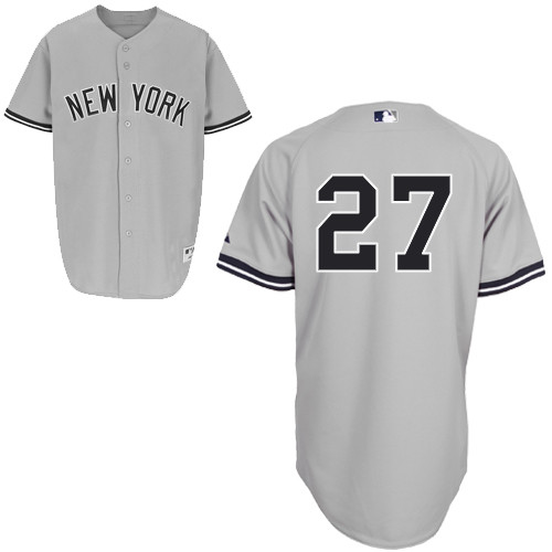 Shawn Kelley #27 MLB Jersey-New York Yankees Men's Authentic Road Gray Baseball Jersey